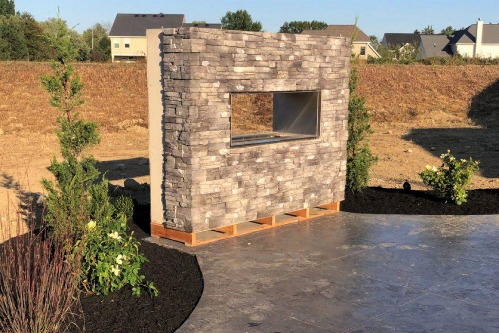 Brick Stone Hardscape Features Prackos Landscaping Seville