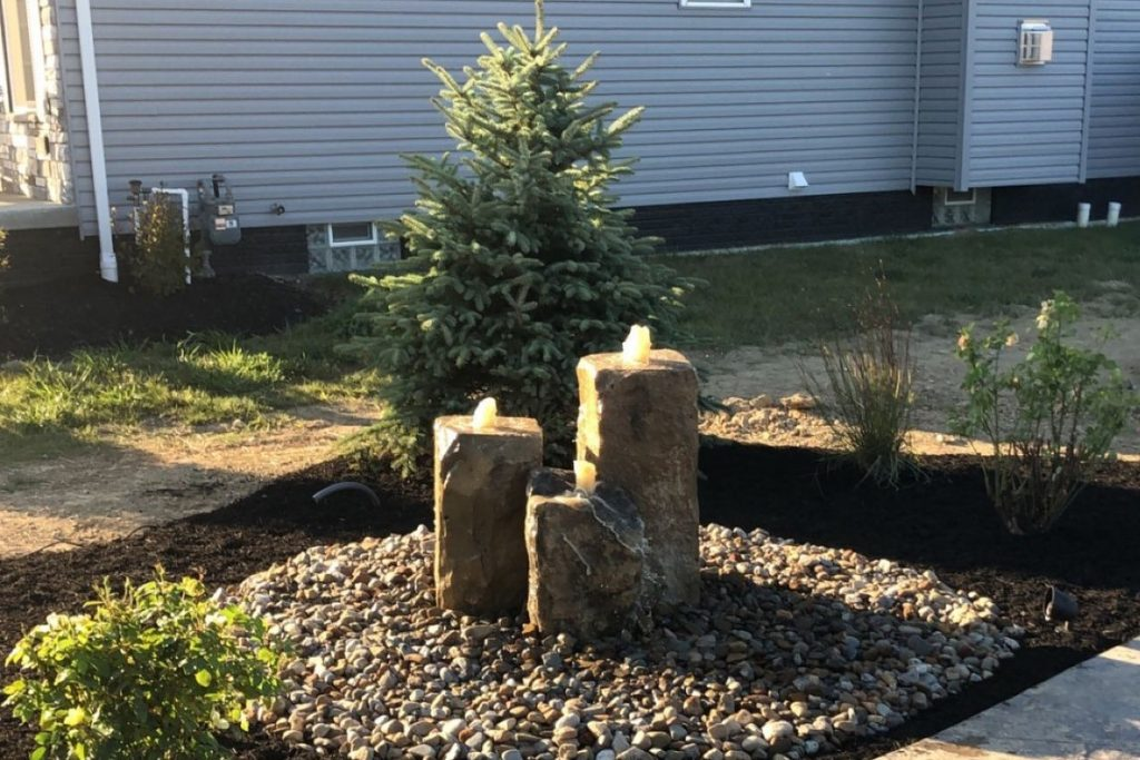 Water Features Fountain Install Prackos Landscaping